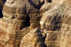 Die Höhlen von Qumran stockbild