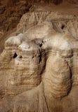 Die Höhlen von Qumran stockfoto