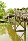 Die hölzerne Brücke Stockfotos