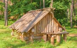 Die hölzerne Hütte Stockfotos