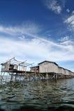 Die hölzerne Hütte Bajau-Fischers Lizenzfreie Stockbilder