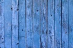 Die hölzerne Hintergrundbeschaffenheit des blauen rustikalen Brettes stockbild
