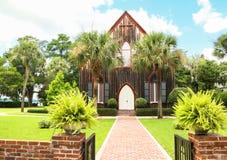 Die hölzerne Kirche stockfoto