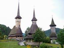 Die hölzerne Kirche von Botiza Stockfotografie