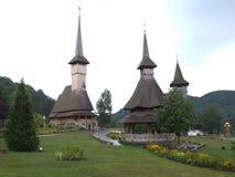 Die hölzerne Kirche von Botiza Stockfotos