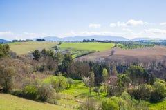 Die Hügel von Sabina Provinz von Rieti, Lazio, Italien Lizenzfreie Stockfotos
