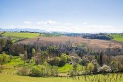 Die Hügel von Sabina Provinz von Rieti, Lazio, Italien Lizenzfreies Stockfoto