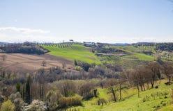 Die Hügel von Sabina Provinz von Rieti, Lazio, Italien Lizenzfreie Stockfotografie