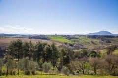 Die Hügel von Sabina Provinz von Rieti, Lazio, Italien Stockbild