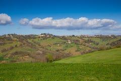 Die Hügel von Sabina Provinz von Rieti, Lazio, Italien Stockfotografie