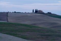 Die Hügel von Toskana, Italien Lizenzfreies Stockbild