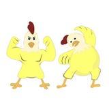 Die Hühnerübung lizenzfreie abbildung