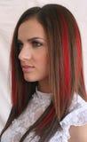 Die Haarfarbe gerade, erhalten erfolgt Stockfotos