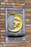 Die Halbmond-Brauerei in Brügge, Belgien Stockbild