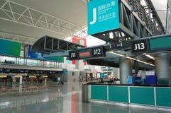 Die Halle im Flughafen Stockbild