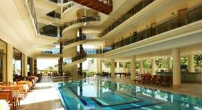 Die Halle im türkischen Hotel Stockfotos