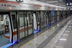 Die Halt der Untergrundbahn gerade Lizenzfreies Stockbild