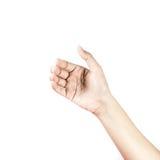 Die Hand der Frau, zum des Handys zu halten Lizenzfreies Stockbild