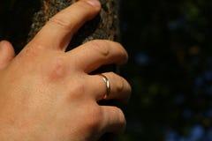 Die Hand eines Mannes Stockbild