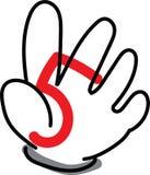 Die Hand Nr. fünf Stockfoto