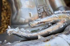 Die Hand von Buddha Stockfoto