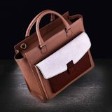 Die Handtasche Brown-Frauen Stockbilder