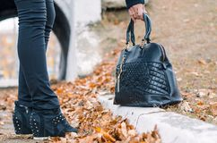 Die Handtasche der Damen. Lizenzfreie Stockfotografie