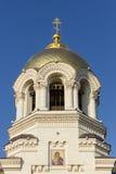 Die Haube der Besteigungs-Kathedrale in Novocherkassk, Russland Stockfotografie