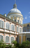 Die Haube der Dreiheits-Kathedrale Sunny May-Tag Alexander Nevsky Lavra, St Petersburg stockfoto
