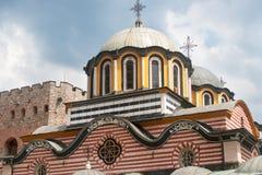 Die Haube der Hauptkathedrale des Rila-Klosters Stockfotos