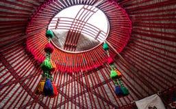 Die Haube Mongolei-` s nationaler historischer Wohnung stockfotos