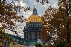 Die Haube von ` s St. Isaac Kathedrale in St Petersburg A stockfoto