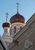 Die Hauben der orthodoxen Kirche Stockfoto