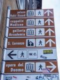 Die Hauptanziehungskräfte im Herzen von Florenz - von FLORENZ/von ITALIEN - 12. September 2017 Stockbilder