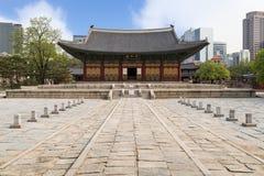 Die Haupthalle von Deoksugungs-Palast in Seoul Stockfotografie