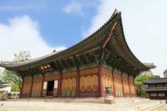 Die Haupthalle von Deoksugungs-Palast in Seoul Lizenzfreies Stockbild