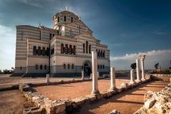 Die Hauptkathedrale von Chersonesos in Krim Stockbilder