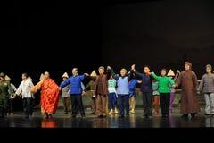 Die Hauptschauspielervorhanganruf Jiangxi-Oper eine Laufgewichtswaage Stockfoto