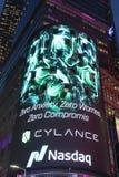 Die Hauptsitze der Börse NASDAQs, der zweitgrösste Handelsmarkt in der Welt im Times Square stockfotos