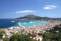 Die Hauptstadt der Insel von Zakynthos Stockbilder