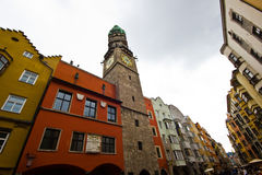 Die Hauptstadt des Bundeslandes von Tirol - das Innsbruk Lizenzfreie Stockfotos
