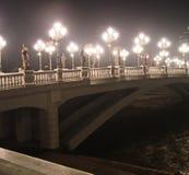 Die Hauptstadt von Mazedonien Skopje auf Weihnachtsabend lizenzfreie stockfotos