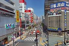 Die Hauptstraße in Ginza - Tokyo Stockbilder