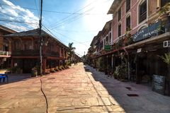 Die Hauptstraße von Bandipur-Dorf Nepal lizenzfreies stockfoto