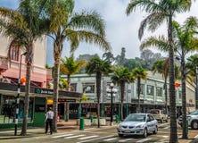 Die Hauptstraße von Napier Stockbild