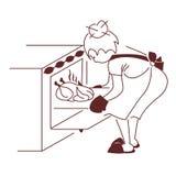 Die Hausfrau Lizenzfreie Stockfotos