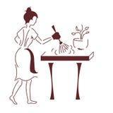 Die Hausfrau Stockbild