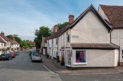 Die Hautpstraße in Lavenham, Suffolk, Großbritannien Stockfotos
