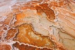 Die heiße Quelle Yellowstone Mammonth Stockfotografie