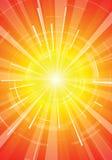 Die heiße Sommersonne Lizenzfreies Stockfoto